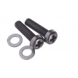 Systema Brush Case Set Screw for 490 Motor (Black Color M3 x 10 with Shim Set of 2) -