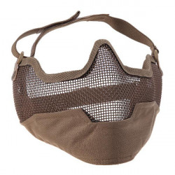 Steel lower face mesh mask (desert tan) -