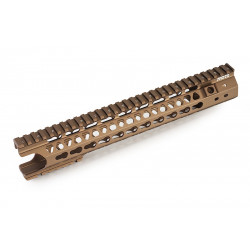 G&P MOTS 12.5 inch Keymod (Wire Cutter Design) for PTW / GBBR M4 (tan) -