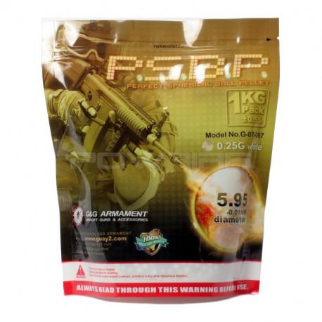 Billes G&G Armament 0.25 Gr PSBP perfect sachet de 1 kilo