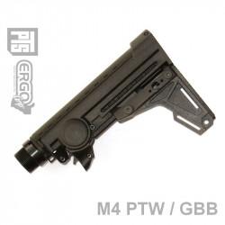 PTS Ergo crosse F93 avec pad pour PTW/GBB M4 (noir) - Powair6.com