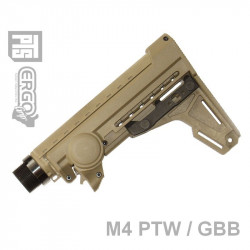 PTS Airsoft Ergo F93 Pro Stock (GBB/PTW) w/pad - DE