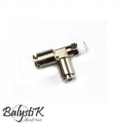 "BalystiK ""Y""Shape Elbow 1/8 Male 6mm macroline - Powair6.com"