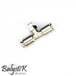 """BalystiK coupleur 1/8 Male """"T"""" double entrée macroflex 6mm"""