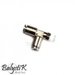 """BalystiK coupleur 1/8 Male """"Y"""" double entrée macroflex 6mm"""