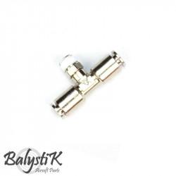 """BalystiK coupleur Male """"T"""" double entrée macroflex 6mm"""