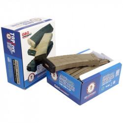 G&G 120rds midcap magazine for M4 AEG Box of 5 (Desert tan/black) -