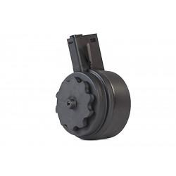 G&P 1500rds Auto Winding Drum Magazine for M4 aeg (Black) - Powair6.com