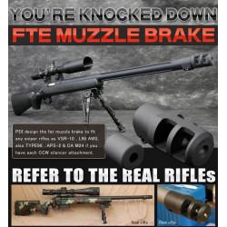 PDI FTE Muzzle Brake for TM VSR-10, L96 AWS, Maruzen Type 96, APS-2, CA M24