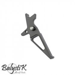 Balystik détente CNC aluminium pour M4 AEG (gris)