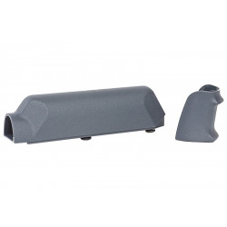 ARES Amoeba Striker S1 Pistol Grip with Cheek Pad Set for Striker S1 - Grey - Powair6.com