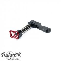 Balystik Magazine catch CNC ambidextre pour M4 AEG (Rouge) -