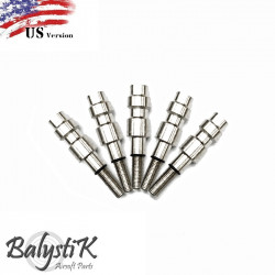 Balystik pack of 5 HPA male connector for KJ / WE / VFC GBB magazine (US version) -
