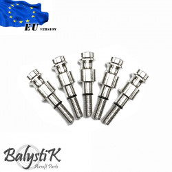 Balystik pack of 5 HPA male connector for KJ / WE GBB magazine ( EU version)