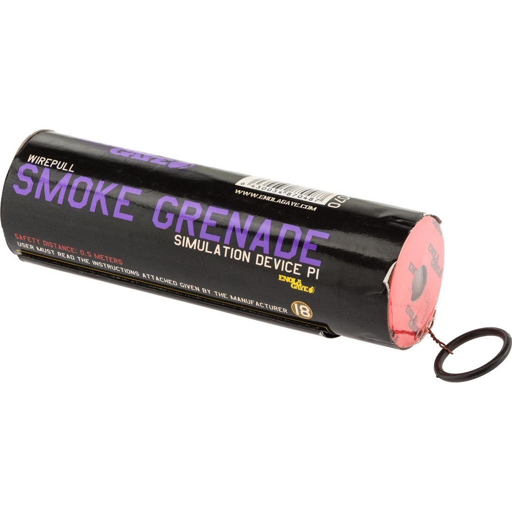Enola gaye Purple Wire Pull Smoke Grenade WP40 A705302VI