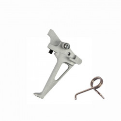 FCC Flat Styled CNC RACE Trigger for PTW M4 (grey) -