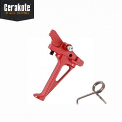 FCC Flat Styled CNC RACE Trigger for PTW M4 (RED) -