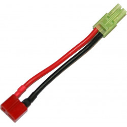 battery wire plug converter for T-shape (female) to mini Tamiya plug (male) -