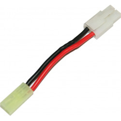 battery wire plug converter for large plug (male) to mini Tamiya plug (female) -