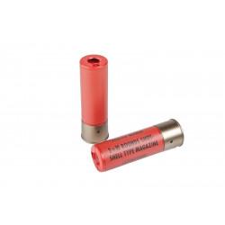 Tokyo Marui lot de 2 cartouches de remplacement pour fusil a Pompe (rouge) -