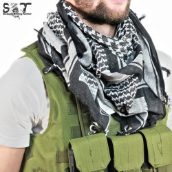 SMT Shemagh Military Tactical Black & White -