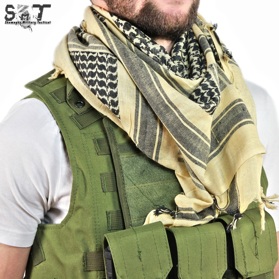 SMT Shemagh Military Tactical Deep tan & Black