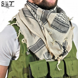 SMT Shemagh Military Tactical Tan & Black - AIRSOFT