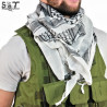 SMT Shemagh Military Tactical White & Black -