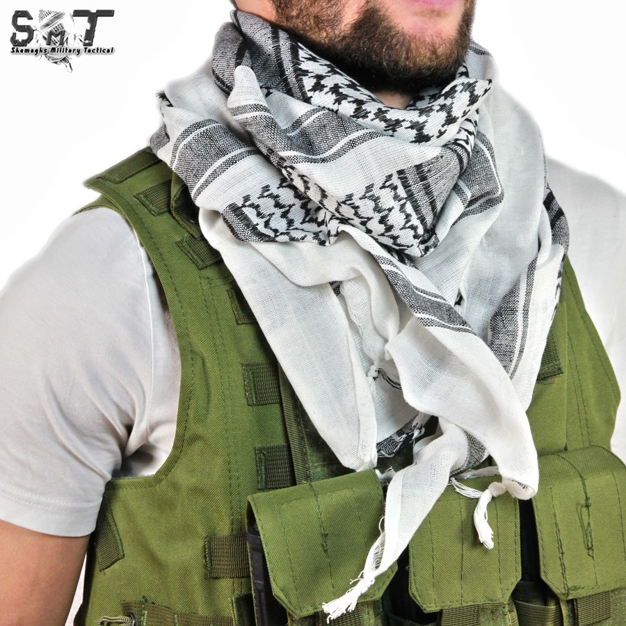 SMT Shemagh Military Tactical White & Black
