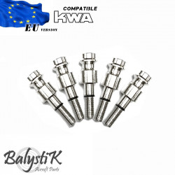 Balystik pack of 5 HPA male connector for KWA GBB (EU) -