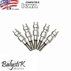 Balystik lot de 5 Valves HPA sans perçage pour GBB KWA (US) - Powair6.com