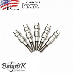 Balystik pack of 5 HPA male connector for KWA GBB (US) -