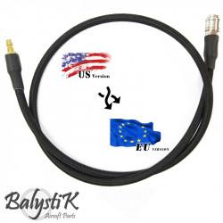 Balystik Ligne adaptateur US - EU HPA 8 mm tressée nylon noire - Powair6.com