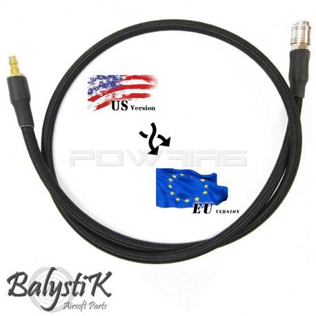 Balystik Ligne adaptateur EU - US HPA 8 mm tressée nylon noire