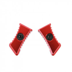 Castellan Embouts dentelés pour charging handle Ultimate (rouge) -