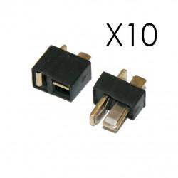 10 Paires de connecteurs mini T-PLUG (mini-deans)