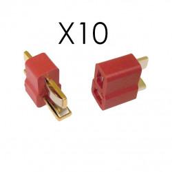 10 paires de connecteurs T-PLUG (deans)
