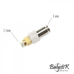 BalystiK raccord Femelle / Femelle Macroline 6mm