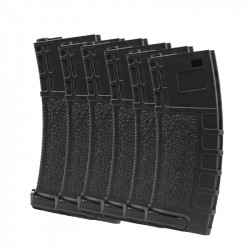 Swiss Arms 400rds high cap magazine for M4 AEG (pack of 6)