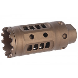 G&P Meat Cutter (L) for M4 AEG (14mm CW & CCW Adaptor included) - Sand