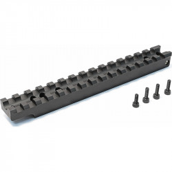 Maple Leaf CNC scope rail with blue bubble level for VSR10 -