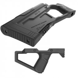 SRU Advanced Stock Grip Kit for GHK / WE M4 GBB (Black)