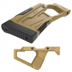SRU Advanced Stock Grip Kit for GHK / WE M4 GBB (tan)