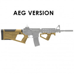 SRU Advanced Stock Grip Kit for M4 AEG (tan)