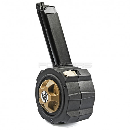 HFC Chargeur DRUM 145 coups pour Glock 17 WE