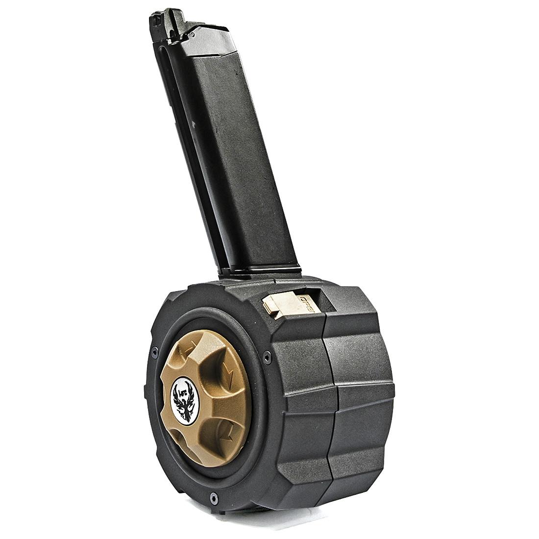HFC Chargeur DRUM 145 coups pour Glock 17, 18