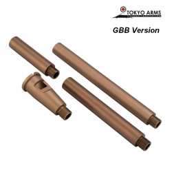 Tokyo Arms Multi-Length CNC Outer Barrel for GBB - Sand
