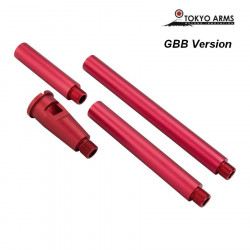Tokyo Arms Multi-Length CNC Outer Barrel for GBB - Red