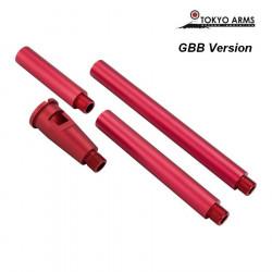 Tokyo Arms multi outer barrel pour M4 GBB - Rouge
