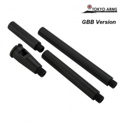 Tokyo Arms Multi-Length CNC Outer Barrel for GBB - Black